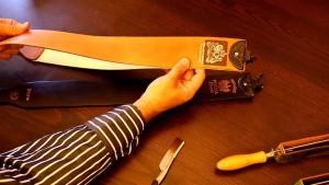 Заточка опасной бритвы о ремень